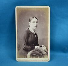 Victorian CDV Photo Carte De Visite Young Lady With Locket Rees Brother & Sons