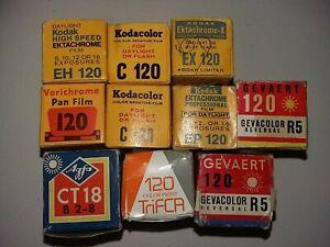 10 vintage 120 films old expired retro film lomography kodak ektachrome spools