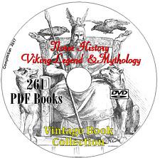 Norse History Viking Legend Mythology Gods Thor  Valhalla Runes 261 Books on DVD