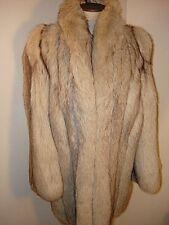 Saga Blue Fox Fur 3/4 Jacket Sz M Fluffy Tuxedo Front