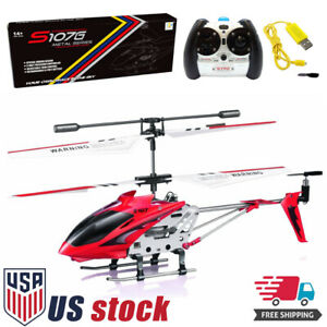 Syma S107G 3 Channel Flashing LED Mini Remote Control RC Helicopter Gyro Gifts