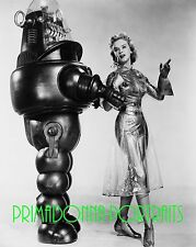 "ANNE FRANCIS 8X10 Lab Photo '56 ""FORBIDDEN PLANET"" Sexy Costume & Robot Portrait"