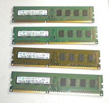 Lot de Ram 8gb 8go 4*2gb ddr3 pc3 10600U pour intel