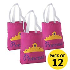 Princess Pink Tote Party Bag Medium 20cm x 21cm Favour Bags Pk of 6 Postage