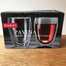 NEW Bodum Pavina 12 Ounce Double WallParoi(Set of 2)