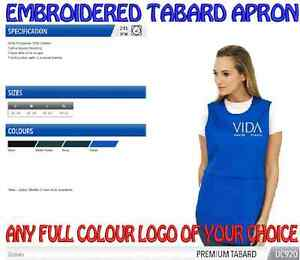 Tabard Uniform Apron including ANY EMBROIDERED PESONALISED DESIGN FREE OF CHARGE