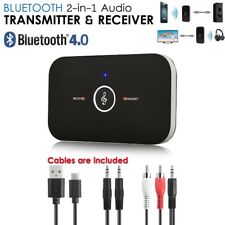 2 in1 Kabellos Bluetooth Sender Empfänger A2DP AUX Audio Stereo Adapter Receiver