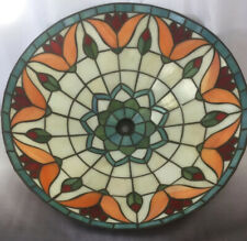 "15"" Vintage Style Tiffany Stained Glass Shade Flush Mount Ceiling Light Tulips"
