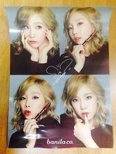 K-POP Girls' Generation SNSD TaeYeon Banila Co. Official Rare Signed Poster