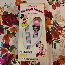 DISNEY'S MICKEY & FRIENDS WHISTLE WATCH & PENDANT BAND LORUS H-E63 MINNIE SEALED
