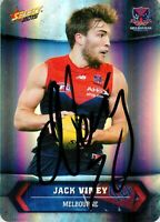 ✺Signed✺ 2015 MELBOURNE DEMONS AFL Card JACK VINEY Silver Parallel