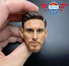 "1/6 Lionel Messi Head Sculpt Soccer Player for 12"" Male Figure Hot Toys PHICEN"