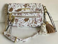 NEW! STEVE MADDEN BSAMIE WHITE FLORAL WRISTLET CROSSBODY SLING BAG $58 SALE