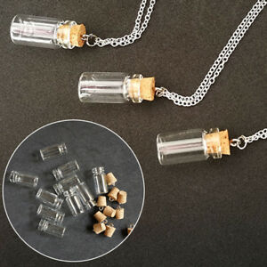 Wholesale 10xsmall glass vials with cork tops 1ml tiny bottles Little empty jars
