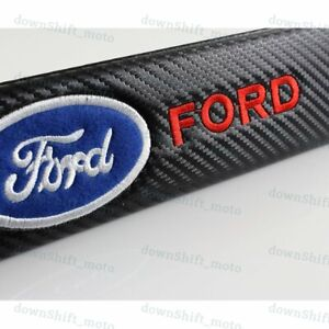 1 set of NEW Black Carbon Look Seat Belt Cover Shoulder Pads Embroidery for Ford