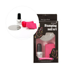 Konad Nail Art Care  Basic Stamping Set Scraper Polish Plate