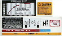 Massey-Ferguson MF 35 50 65 Tractor Add-On Decal Set, Safety/Lift/Speed/Shift/MP