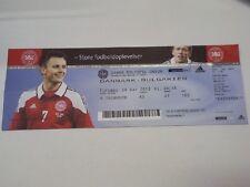 Ticket DENMARK - BULGARIA 2013 Qualifications WC '2014 Brazil Danmark България