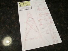 "Windmill Wood Tower ""How To Build"" Lumber Diagram, for Aermotor set-ups, 20ft"