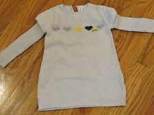 Sucre d'Orge Girls 24 months Gray shimmery Knit Dress with Heart Design