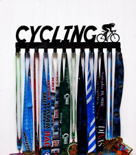 Cycling Wall Mount Medal Holder / Display - Metal - Color Options Available