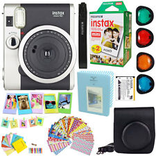 Fujifilm Instax Mini 90 Neo Instant Film Camera (Black) + 20 Film Acc Bundle