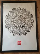 SHEPARD FAIREY - OBEY - MANDELA ORNAMENT - SIGNED & NUMBERED - A1 SIZE PRINT