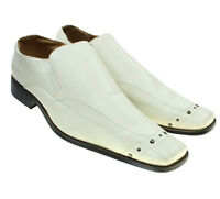 Antonio Cerrrelli Mens White Square Toe Western Dress Loafers Shoes Size 12 M