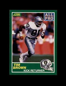 1989 Score Football #305 Tim Brown (All Pro) (Raiders) MINT
