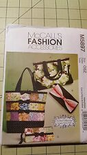 Tote Bag Sewing Pattern Floral Handbag How To Make a Bag McCalls M5897