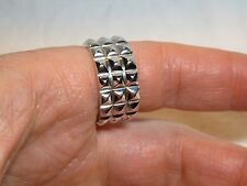 Stephen Webster Men's Sterling Silver Studded Band Ring Sz 10