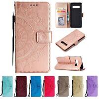 Samsung Galaxy S10+ (Plus) Handyhülle Flip Case Schutzhülle Tasche Cover Mandala