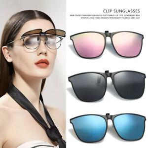 Clip on Sunglasses Polarized Flip up Glasses Driving UV400 Protection Eyewear UK