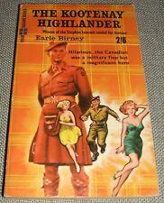 1960 Mass Market Paperback edition of The Kootenay Highlander by Earle Birney
