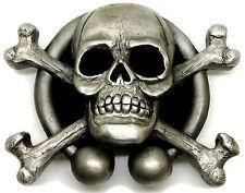 Cráneo Esqueleto Huesos Cruzados Hebilla de cinturón runas auténtico producto diseños de Dragón