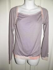 LULULEMON ATHLETICA Silky Stripe Multi Print Yoga Work Out Shirt Size 6