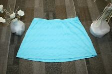 Wimbledon Womens Blue Micro Mini Skirt Size Jr Large  athletic free shipping