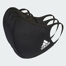 Adidas Face Mask Cover (3-Pack) 100% Authentic  Black  Size M/L (Medium/Large)