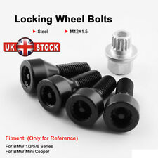 Locking Wheel Bolts 12x1.5 Nuts Tapered for BMW Z4M 06-09