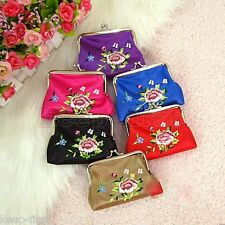 Wholesale 10pcs Chinese Vintage Embroider Silk Coin Purse Jewerly Pouch Gift Bag