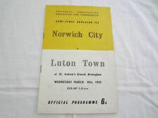 Luton Town FA Cup Home Teams L-N Final Football Programmes