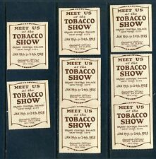 8 VINTAGE 1925 TOBACCO SHOW POSTER STAMPS (L655) NYC GRAND CENTRAL PALACE