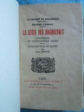 CURIOSA : LA SECTE DES ANANDRYNES, 1910. Reliure d'art maroquin de Noël.