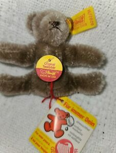 "Steiff Miniature Original Teddy Bear, 2 3/4"" Tall, #0202/11, All Tags Intact"