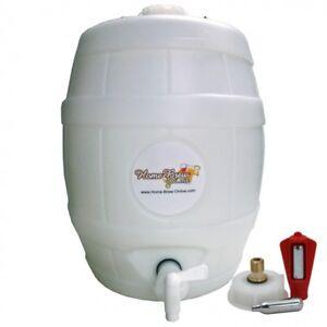 Pressure Barrel Keg 25L CO2 For Home Brew Beer Cider Lager Ale Dispenser Making