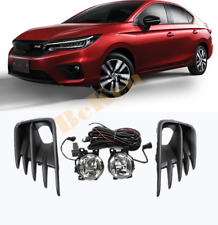 w/ Wiring Switch Bezel 2019-2020 FOR Honda City led bulb Bumper Fog Light Kit