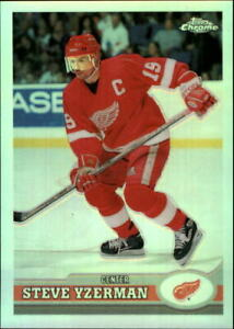 1999-00 (RED WINGS) Topps/OPC Chrome Refractors #14 Steve Yzerman
