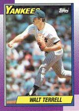 Walt Terrell 1990 Topps Baseball Card #611 New York Yankees NM+/M