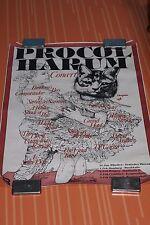 Procol Harum Concert Tour Poster Germany Original 70s Rock Poster Chrysalis