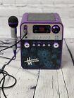 Purple Hannah Montana Concert CD Player Karaoke Machine Microphone Works Great